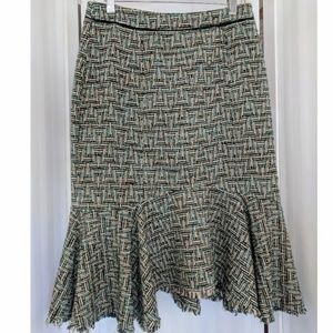 Anthropologie Elevenses Bellerby Tweed Skirt